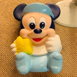 Vintage Arco Mickey Mouse Star rubber squeeze toy